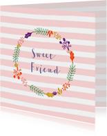 Vriendschapskaart sweet friend