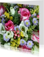 Vrolijk boeket bloemen