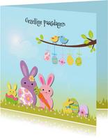 Vrolijk Pasen met paashaas