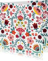 Kleurrijke verjaardagskaart met bloemen