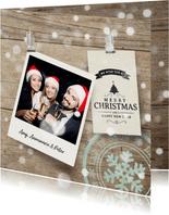 Vrolijke kerstkaart label foto