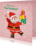 Vrolijke kerstman met cadeautjes