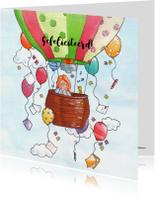 Vrolijke luchtballon met ballon