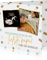 Vrolijke vaderdagkaart met foto's voor de aanstaande vader