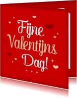 Vrolijke valentijnskaart hartjes
