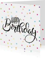 Vrolijke Verjaardagskaart- Happy Birthday