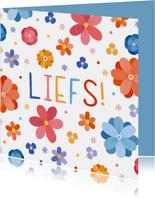 Vrolijke zomaar kaart met bloemen liefs