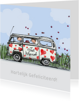 VW bus hartjes Anet Illustraties