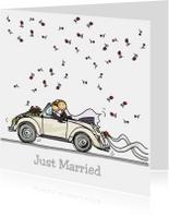 VW Kever met bruidspaar