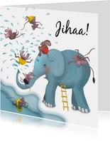 Waterpret met olifant en muizen
