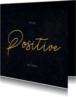 Weihnachts-Neujahrskarten Stay positive