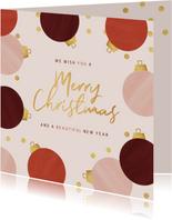 Weihnachtskarte Beautysalon Weihnachtskugeln
