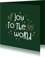 Weihnachtskarte christlich 'Joy to the world'