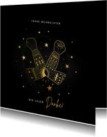 Weihnachtskarte Danke Ellenbogen-Box