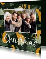 Weihnachtskarte Dschungel Look mit großem Foto