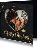 Weihnachtskarte eigenes Foto in Herz