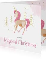 Weihnachtskarte Einhorn Magical Christmas