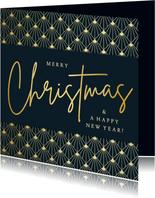 Weihnachtskarte Firma 'Merry Christmas' Art deco