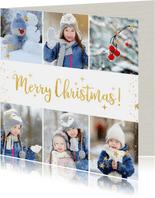 Weihnachtskarte fröhliche Fotocollage mit Sternen