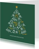 Weihnachtskarte für Baufirma Werkzeuge