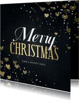 Weihnachtskarte für Mitarbeiter 'Merry Christmas' Herzen