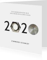 Weihnachtskarte geschäftlich 2020 Mutter & Sägeblatt