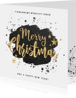 Weihnachtskarte geschäftlich Handlettering Merry Christmas