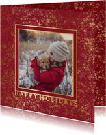 Weihnachtskarte 'Happy Holidays' mit Fotos