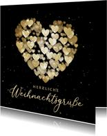 Weihnachtskarte Herz aus Herzen