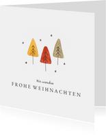 Weihnachtskarte kleiner Weihnachtswald