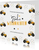 Weihnachtskarte Landwirtschaft Traktor