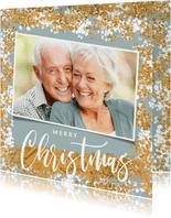 Weihnachtskarte mit Foto und Konfetti Rahmen