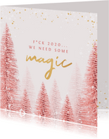 Weihnachtskarte Pink Magic