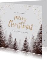 Weihnachtskarte Tannenbäume Winter