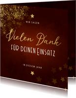 Weihnachtskarte Vielen Dank Goldschrift
