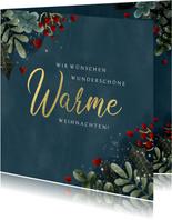 Weihnachtskarte Warme Weihnachten