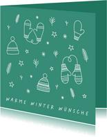 Weihnachtskarte Warme Winterwünsche