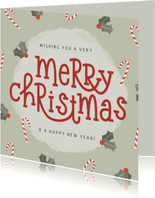 Weihnachtskarte 'Wishing You a Merry Christmas'