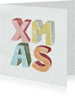 Weihnachtskarte XMAS Typografie