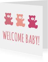 Felicitatiekaarten - Welcome baby beer!