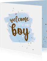 Welcome little baby boy - happy felicitatiekaart