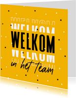 Welkom in het team collega hip grafisch foto confetti