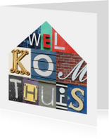Welkom thuis in letters