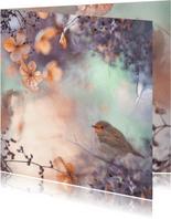 Wens met hortensiabloemen