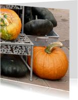 Wenskaart herfst pompoenen