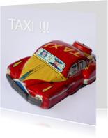 wenskaart Taxi blik