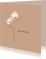 Wenskaart watercolor bloemen