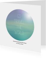 Wereldreis vakantie kaart engels quote