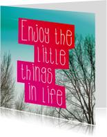 Wijze speuk over het leven kaart