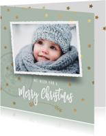 Kerstkaarten - Winterse kerstkaart sterren foto